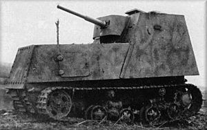 A KhTZ-16. The vehicle also appears to be camouflaged.