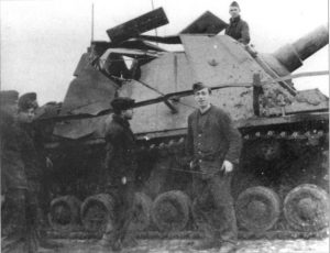 This Brummbar was reportedly hit by an ISU-152