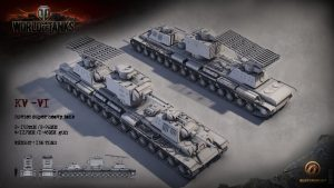 World of Tanks Render of the KV-VI
