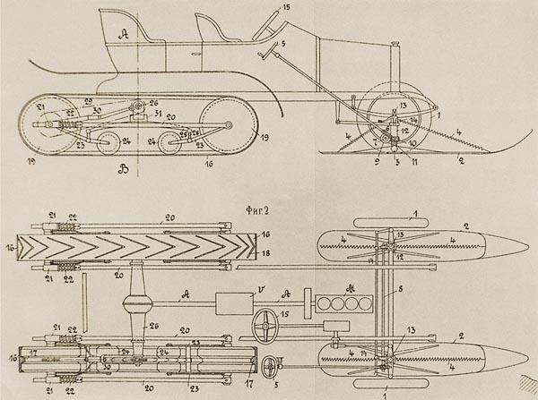 Russo-Baltic Type C24-30 series half track with Kegresse system - Credits: Dartzkombat.com