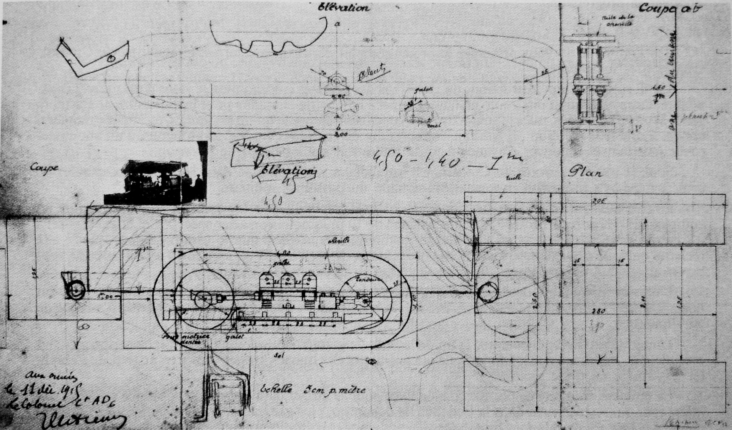 Col. Estienne specifications drawings