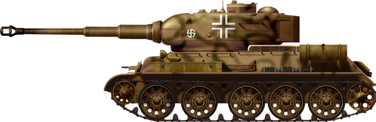 T-34 mit 88 tiger gun