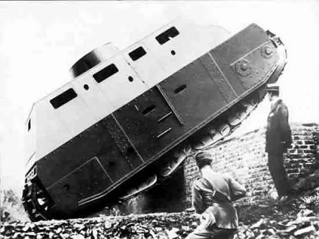 Fiat 2000 Prototype Tank trials 1918