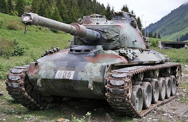 Preserved Swiss Army Panzer 68 at Hinterrhein