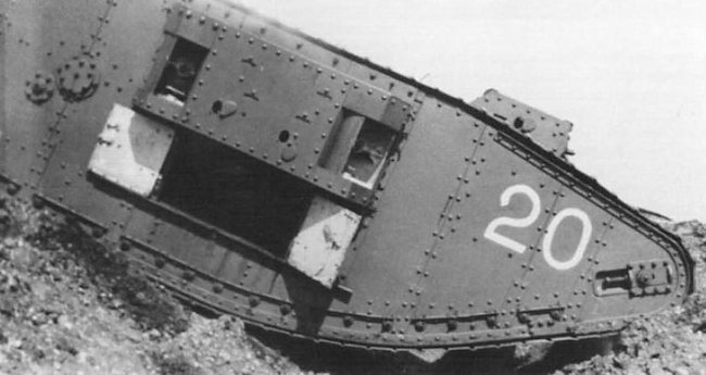 Mark III Female WW1 training tank.
