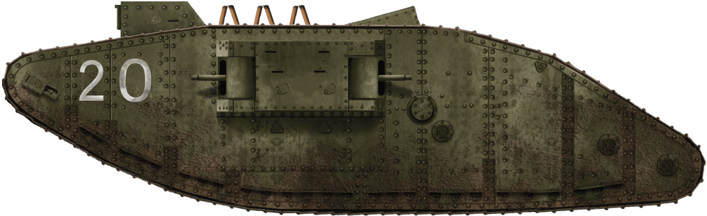 The Female Mark III tanks were also used as training tanks.