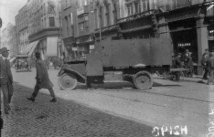 British-Armoured-car-across-a-street-in-Dublin