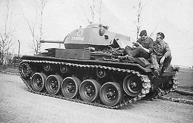 British M24 Chaffee, Light Tank C Squadron, Reconnaissance Regiment, 5th Infantry Division, Germany 1946