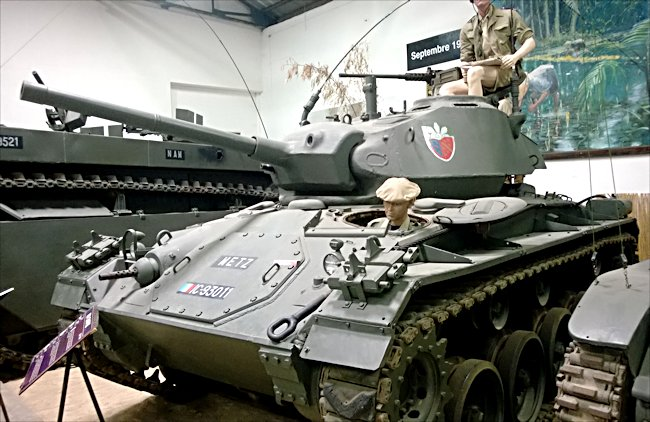 French Army example of the M24 Chaffee Light Tank can be found at the the French Tank Museum in Saumur in the Loire Valley