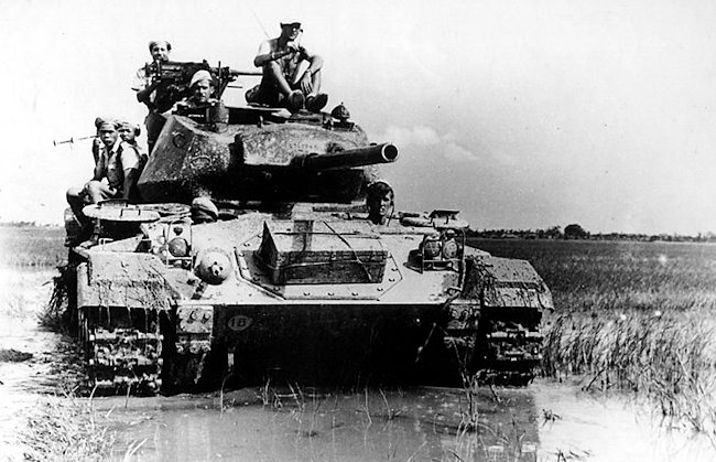 French Army M24 Chaffee Light Tanks