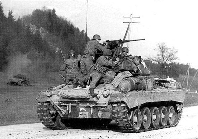 M24 Chaffee Light Tank of the 20th Armoured Division.