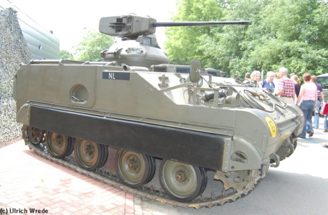 A Dutch M113 C&V with the Oerlikon turret