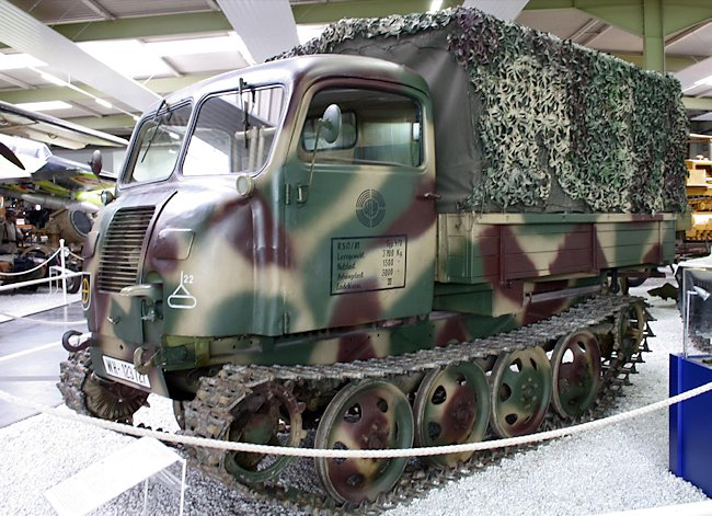 Raupenschlepper Ost (RSO) 01 tracked lorry at the Auto + Technik Museum, Sinsheim, Germany