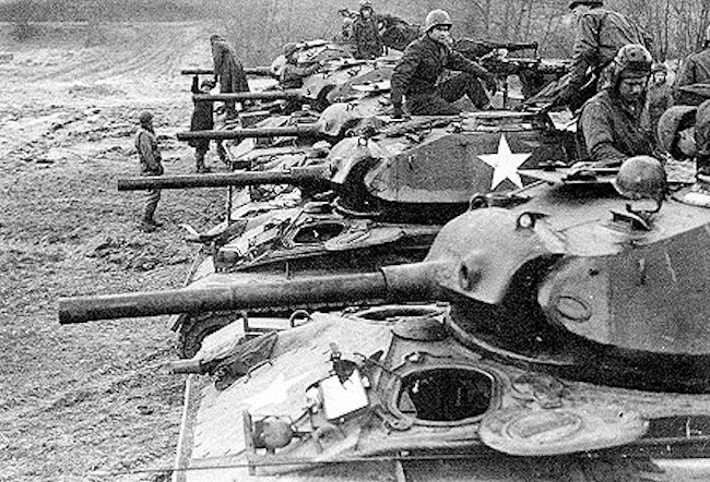 M24 Chaffee light tanks were used in the Korean War by the US Army