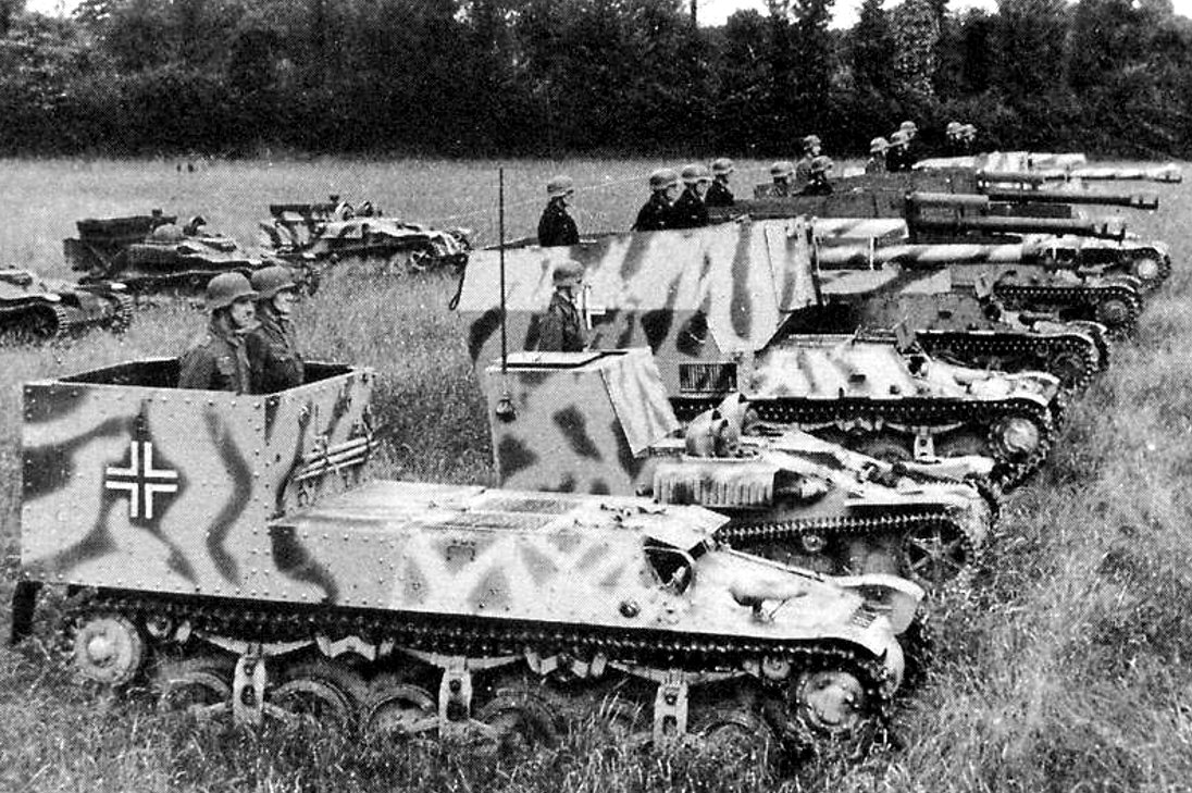 Four 155th Panzer Artillery Regiment, 21st Panzer Division