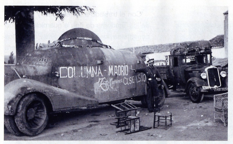 Different view of the above MC-36. Slogan: Columna Madrid, Tte. Coronel Asencio.
