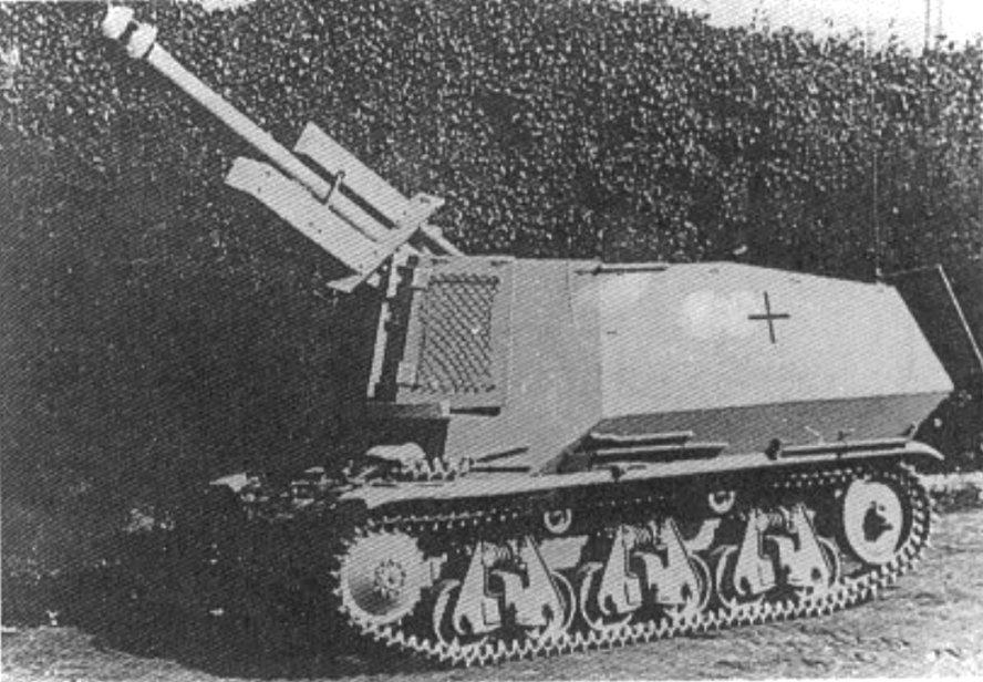 German Army 10.5cm leFH 18 (Sf.) auf Geschutzwagen 39H(f) self-propelled gun