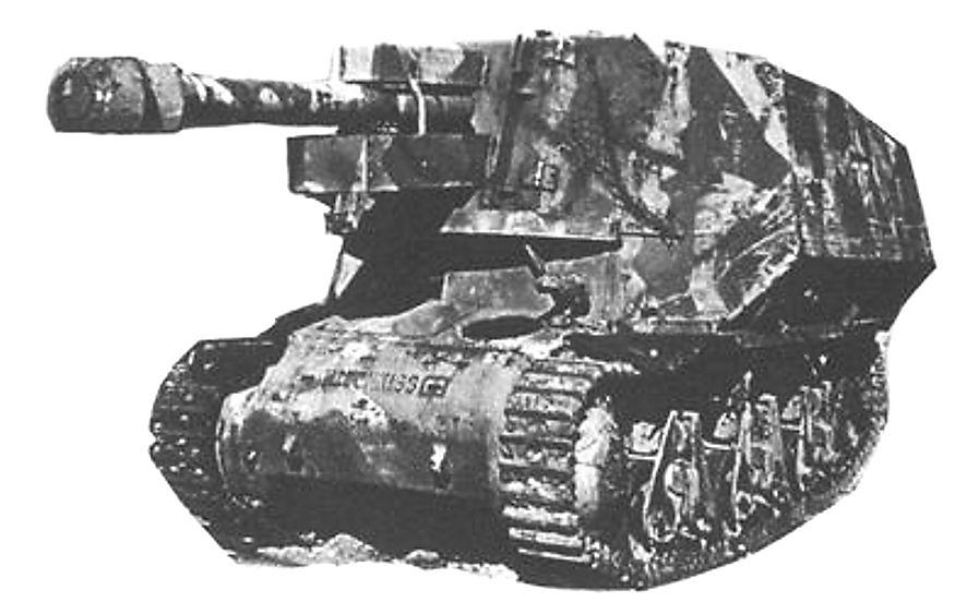 Camouflaged 10.5cm le FH 18 auf GW 39H(f) SPG