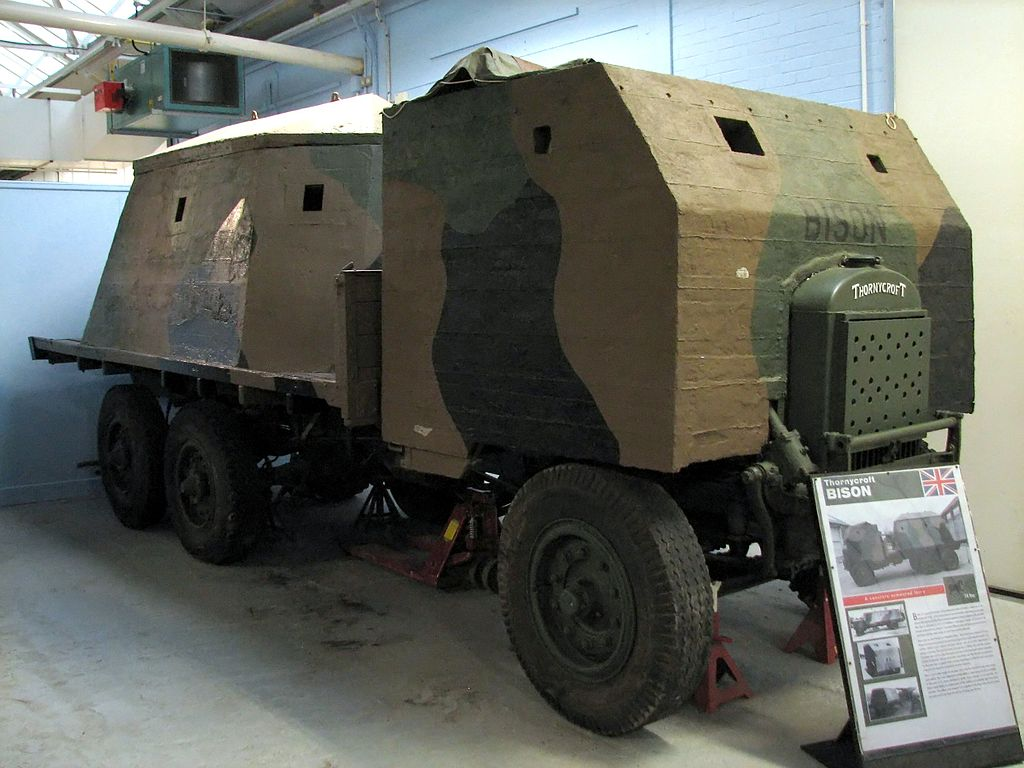 Type 2 Bison at Bovington. Some parts are original, but the truck chassis is not one that would originally have been used