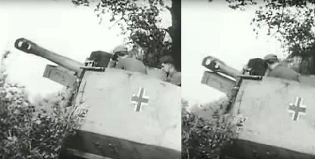 10.5cm leFH 16 (Sf.) auf Geschutzwagen 39H(f) gun recoil
