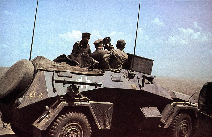 Color photo of the Sd.Kfz.247 Ausf.B