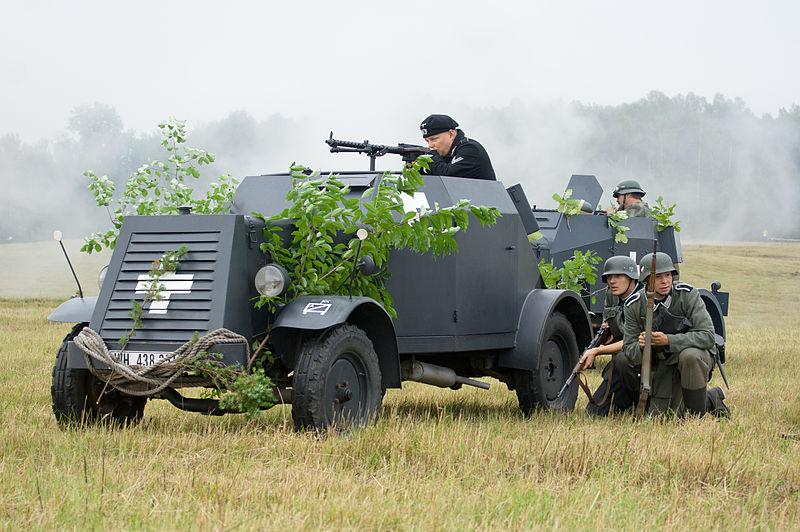 A Kfz.13 replica in Poland