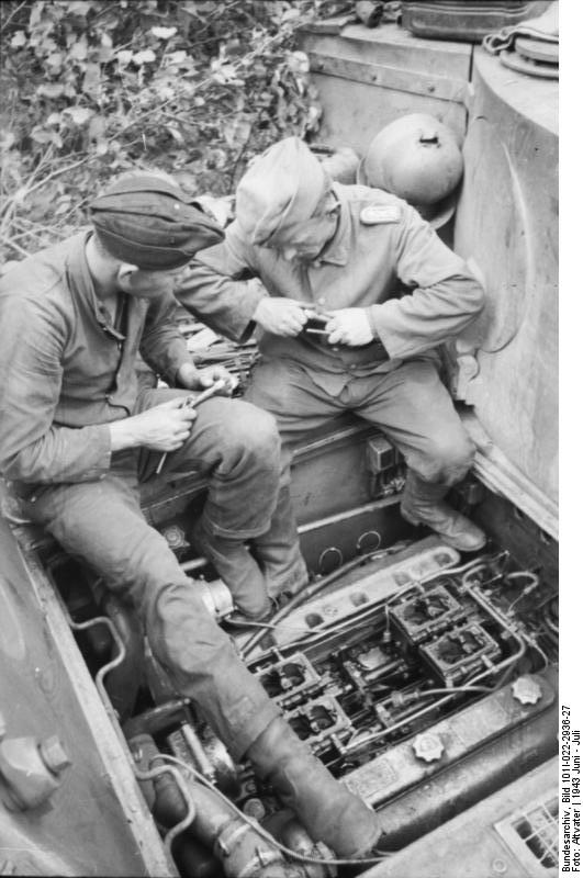 repairing a tiger engine