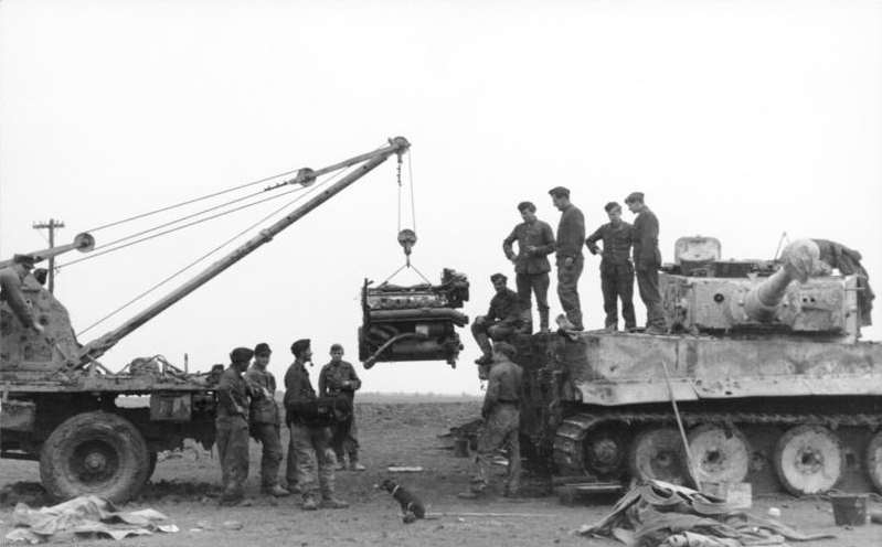 Tiger engine being removed