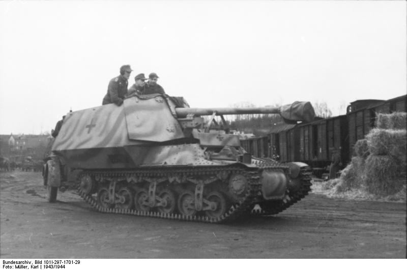 A Marder I in Russia, 1943 - Credits: Bundesarchiv.