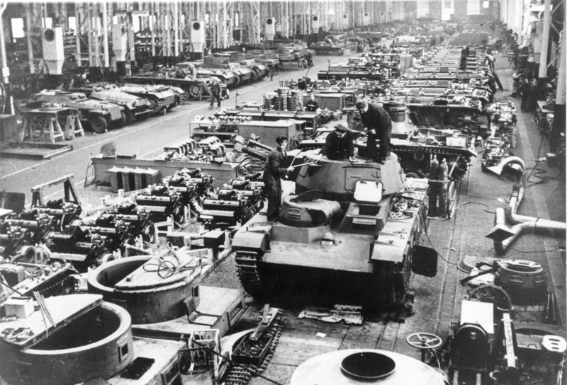 Neubaufahrzeug at the Krupp factory