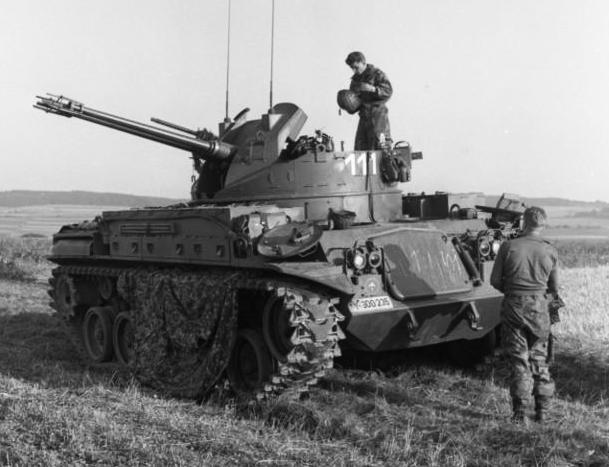 Herbstübung des Heeres: Fla-Panzer im Raum Altenkirchen-Hachenburg (Oberwesterwald)