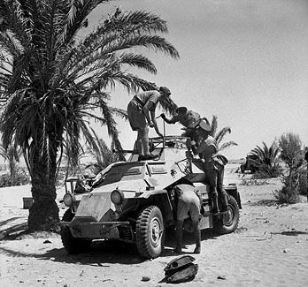 Sd.Kfz.222 inspected by British troops