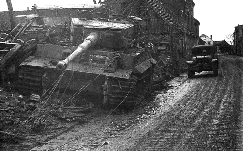 Tiger knocked-out in 1945
