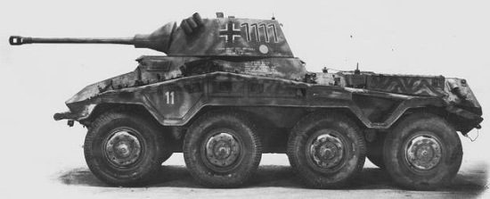 Sd.Kfz.234/2 Puma side-view