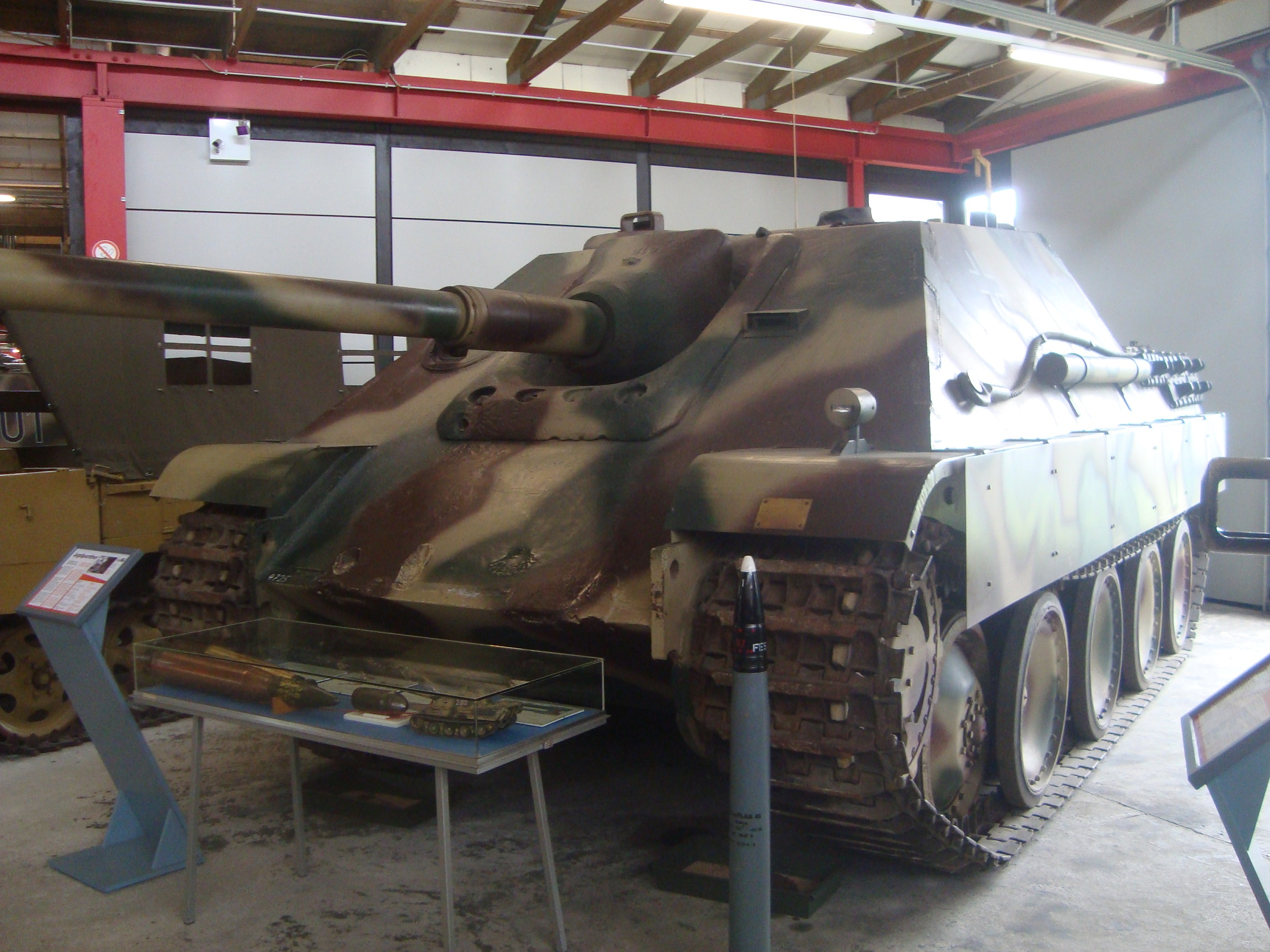 Preserved Jagdpanther at Panzermuseum Munster