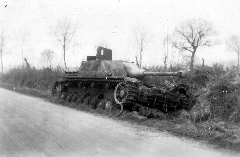 Destroyed StuG IV in Normandy