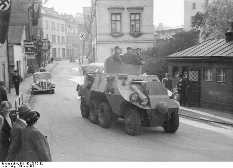 ADGZ in the Sudetenland, 1938