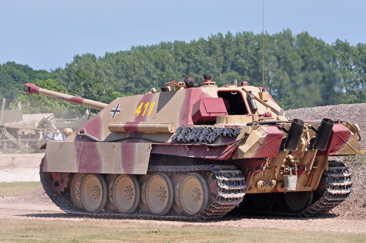 The rear of the Bovington Jagdpanther, seen here during Tankfest