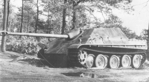 Knocked-out Jagdpanther belonging to Major Erich Sattler, 3rd Regiment, Schwere Panzerjager Heeres Abteilung 559, Belgium
