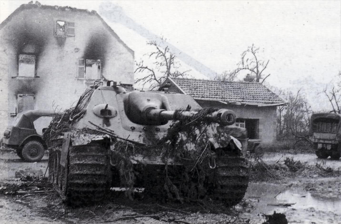 Jagdpanther of Panzer Abteilung 654, destroyed in Grussenheim