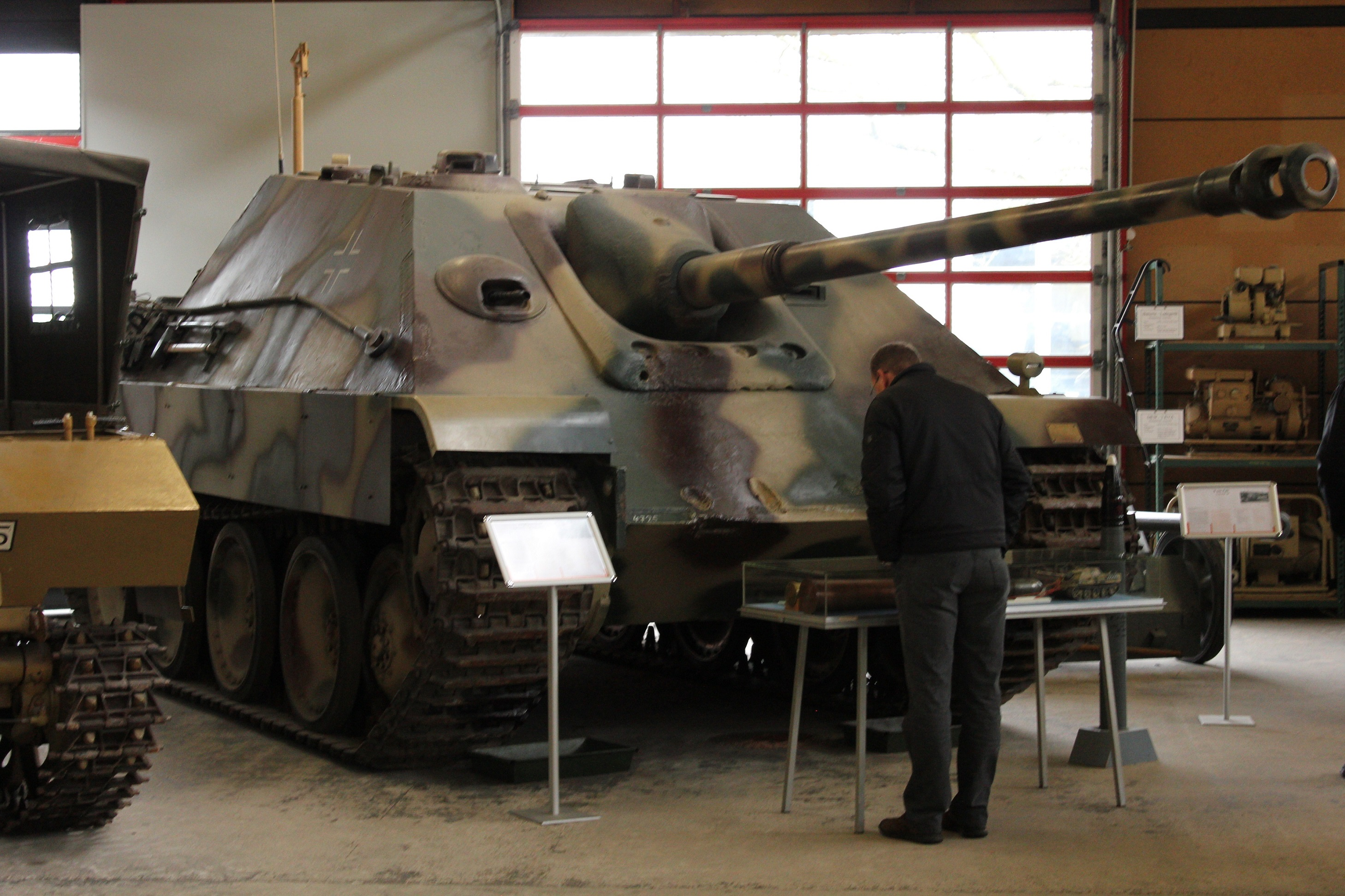 Another view of the Jagdpanther in Munster. Notice the shell marks on the front glacis.