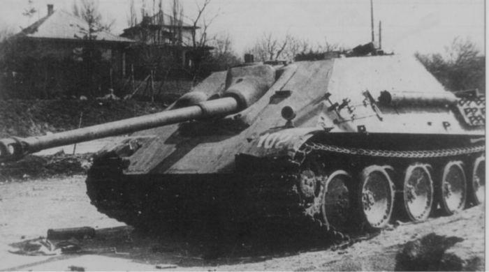 A captured Jagdpanther during Operation Frühlingserwachen