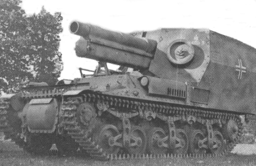 15cm s.FH 13/1 (Sf) auf Geschützwagen Lorraine Schlepper(f) in Normandy