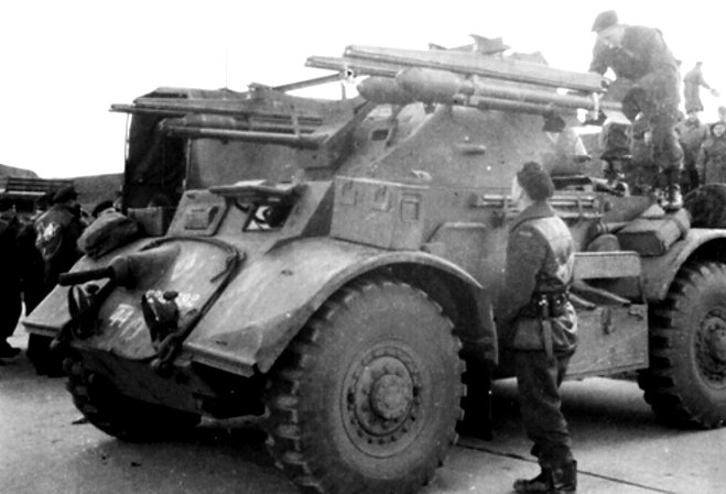 Canadian Staghound Armoured Car Rocket Launcher