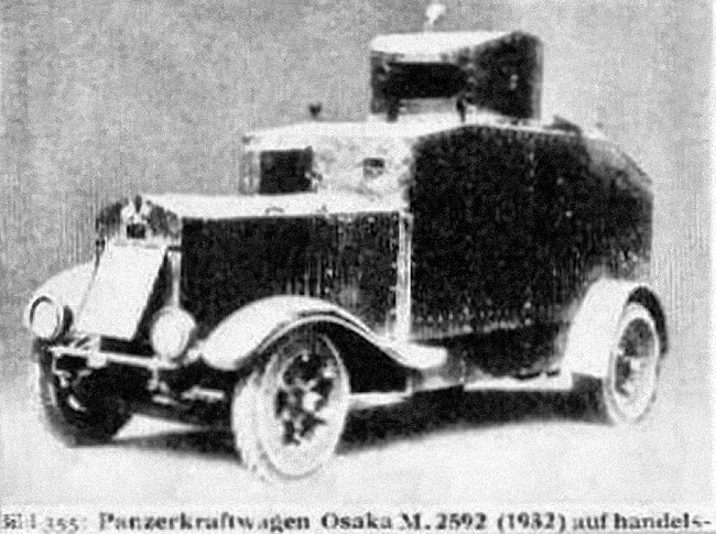 Rare photo of the Type 92 Osaka
