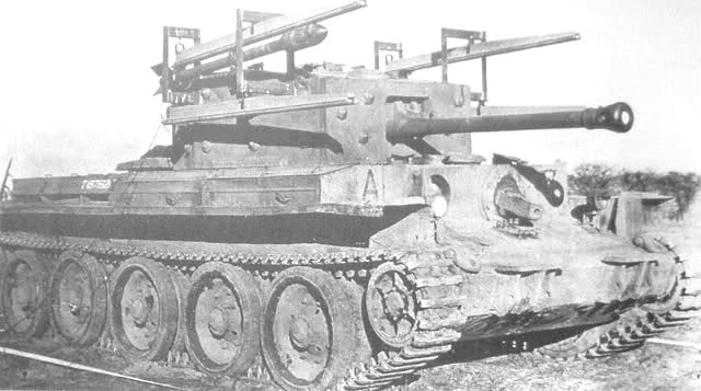 Cromwell Tulip tank prototype armed with four rockets