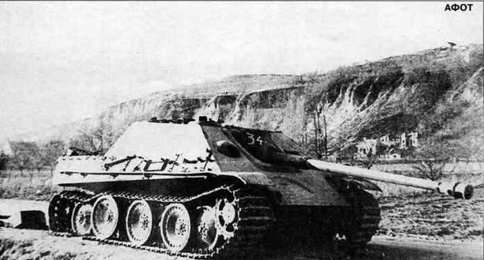 Jagdpanther captured by the Red Army near Lake Balathon