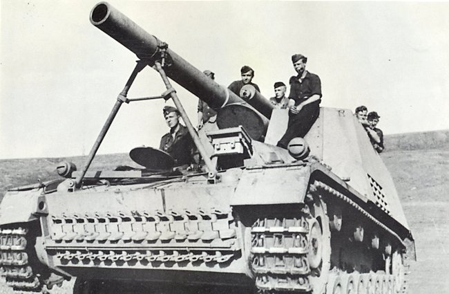 Hummel self-propelled gun
