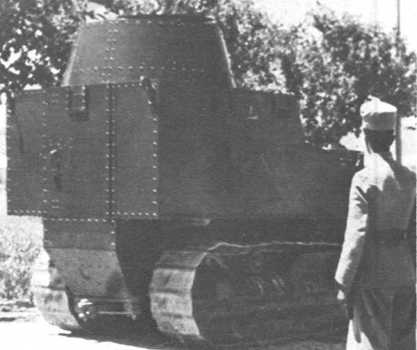 Disston Tractor Tank in Afghan service, circa WWII