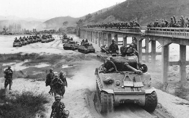 M4A3(76)HVSS of the 72nd Heavy Tank Battalion of the 2nd Infantry Division in Korea in September 1950